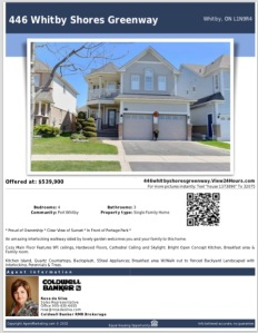 446 Whitby Shores Feature sheet